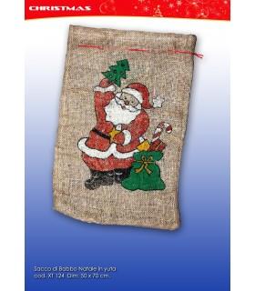 Sacco di Babbo Natale in Yuta Dim. 50x70 cm