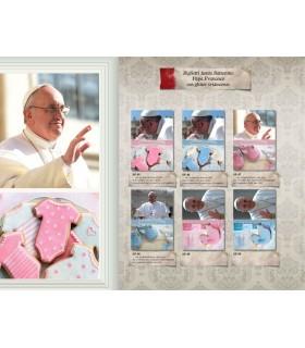 Biglietto Marpimar Battesimo Papa Francesco con Glitter conf. 12 pz. ass. in 6 soggetti