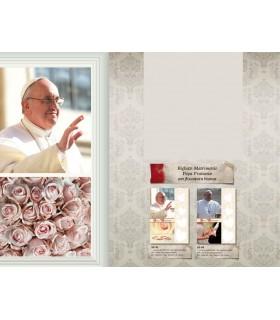 Biglietto Marpimar Matrimonio Papa Francesco con Floccatura bianca conf. 12 pz. ass. in 2 soggetti