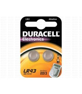 Pila Duracell a Bottone LR43 conf. 10 pz.