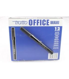 Pennarello Tratto Office Maxi conf. da 12 pz. colore nero