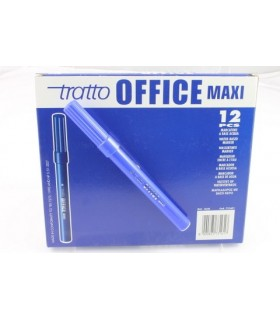 Pennarello Tratto Office Maxi conf. da 12 pz. colore blu