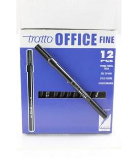 Pennarello Tratto Office Fine conf. da 12 pz. colore nero