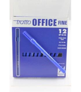 Pennarello Tratto Office Fine conf. da 12 pz. colore blu