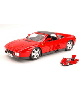 Auto Ferrari Vintage 348TS Burago Scala 1:18 colore Rosso