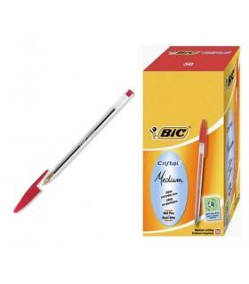Penna Bic Cristal conf.50 pz .colore rosso