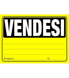 Cartello Vendesi Formato 23x33 conf. da 20 pz. colori assortiti