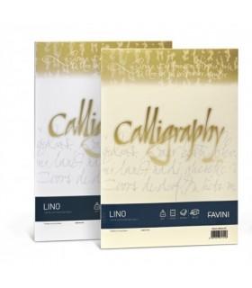 Cartoncino Lino Favini Calligraphy F.to A4 da 120gr conf. da 50 fogli color Avorio