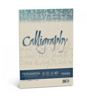 Cartoncino Pergamena Favini Calligraphy F.to A4 da 190gr conf. da 50 fogli color Sabbia