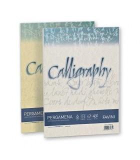 Cartoncino Pergamena Favini Calligraphy F.to A4 da 90gr conf. da 50 fogli color Sabbia