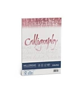 Cartoncino Millerighe Favini Calligraphy F.to A4 100gr conf. da 100 Fogli colore Bianco