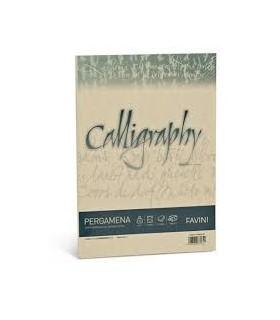 Cartoncino Pergamena Favini Calligraphy F.to A4 190gr conf. da 50 Fogli colore Nocciola