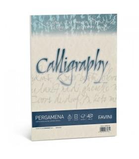 Cartoncino Pergamena Favini Calligraphy F.to A4 190gr conf. da 50 Fogli colore Naturale