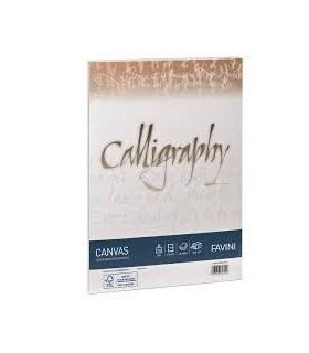Cartoncino Canvas Favini Calligraphy F.to A4 200gr conf. da 50 Fogli colore Bianco