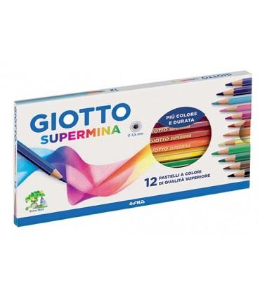 Pastelli Giotto Supermina da 12 pz.