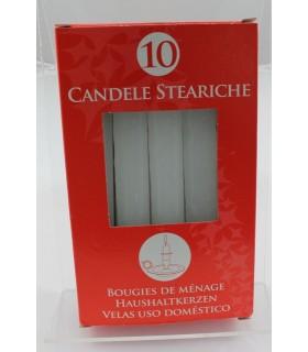 Candele Steariche   conf. da 10 pz.