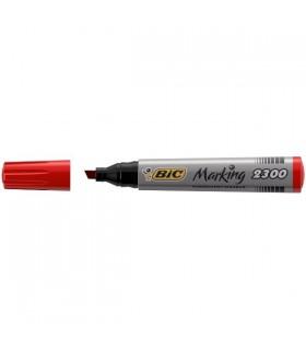 Marcatore Bic 2300 Punta Scalpello conf. da 12 pz. colore Rosso