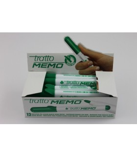 Tratto Memo per lavagna  bianca punta tonda conf. da 12 pz. colore verde