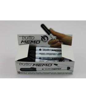 Tratto Memo per lavagna bianca punta tonda conf. da 12 pz. colore nero