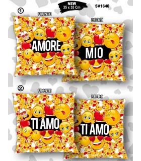 Cuscino Smile San Valentino mis.35x35 cm Disponibile in 4 modelli