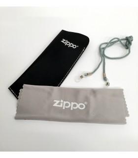 Set Cordino + Custodia e  Pezza in Microfibra per Occhiali da Lettura Zippo