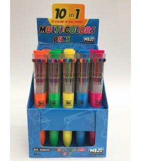Penna Niji 10 colori , Conf. da 20 pz