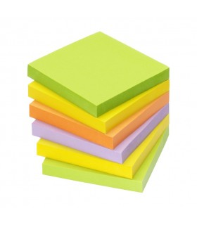 Memo Stick 76x76 mm colori Forti conf. da 6 pz.