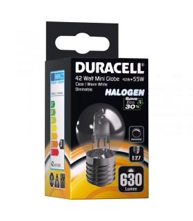 Lampadina Duracell Halogen Passo Piccolo E27 potenza 42 Watt resa 55 Watt