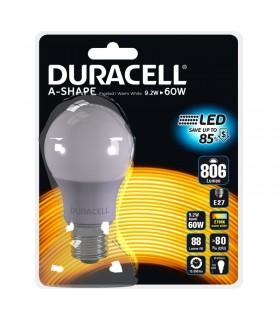 Lampadina Duracell a Led Passo grande E27 Potenza 9 Watt  Resa 60 Watt