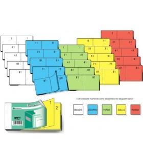Blocco Numerato 1-100 Colori Forti