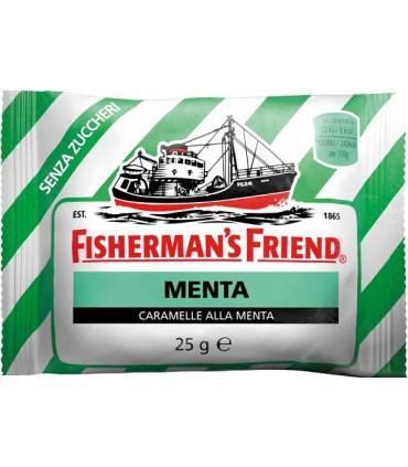 FISHERMAN'S VERDE MENTA SENZA ZUCCHERO BUSTINA DA 25GR CONF. DA 24 PZ.