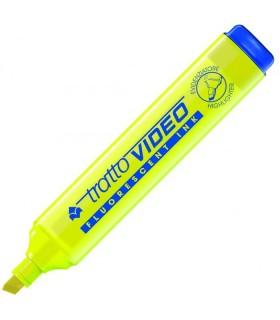 Evidenziatore Tratto Video colore giallo conf. da 20 pz.