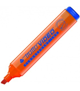 Evidenziatore Tratto Video colore Arancio Florescente  conf. da 12 pz.