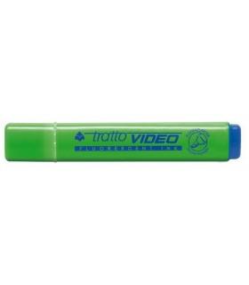 Evidenziatore Tratto Video colore verde conf. da 20 pz.