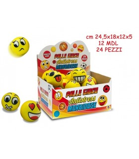 Pallina Smiley Antistress Expo da 24 pz.