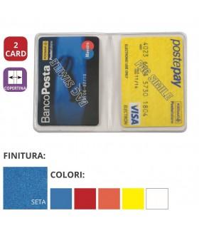 Portacard in PVC Colorato a 2 Tasche Expo da 50 pz. ass. in 5 colori