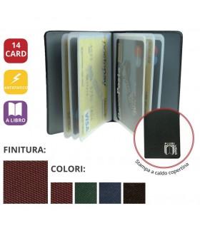 Portacard in PVC espanso a Libro da 14 Scomparti Expo da 24 pz. ass. in 4 colori
