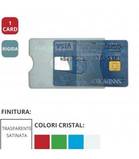 Portacard Rigida Trasparente ad 1 Scomparto Expo da 60 pz. ass. in 4 colori