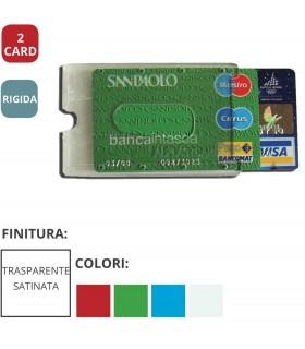 Portacard Rigida Trasparente ad 2 Scomparti Expo da 34 pz. ass. in 4 colori