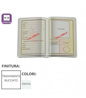 Porta Carta D'identità Trasparente in PVC a Libro Expo da 100 pz.