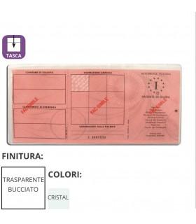 Porta Patente in PVC Trasparente Expo da 100 pz.