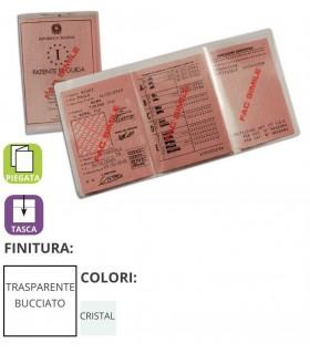 Porta Patente Piegato in PVC Trasparente Expo da 100 pz.