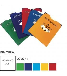 Disco Orario in Materiale Telato Gommato Colorato Expo da 25 pz. ass. in 5 colori