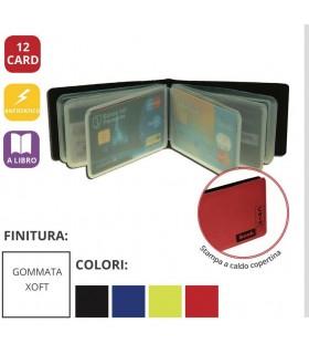 Portacard a 12 Scomparti con Disposizione e Libro in PVC Expo da 24 pz. ass. in 4 colori