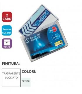 Portacard in PVC a 2 Tasche Expo da 100 pz.