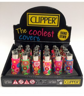 Clipper Mini Gommati Pop Flowers conf. da 24 pz. assortiti in 6 fantasie