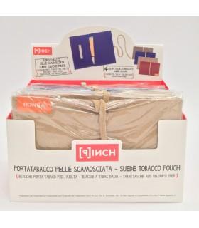 Porta Tabacco Pinch in Pelle in Scamosciata Expo da 8 pz. assortito in 4 colori