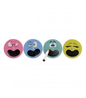 Posacenere da tasca Smiley Expo 12 pz
