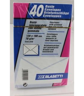 Buste lettera Blasetti  mis. 12x18 Bianche  blister da 40 pz.
