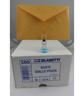 Buste lettera Blasetti  mis. 12x18 Gialle   scatola da 500 pz.